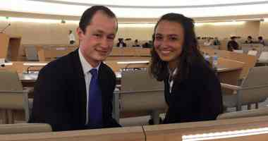 William Bock and Helaina Hirsch, juniors at Patrick Henry College, made up the winning moot court team.