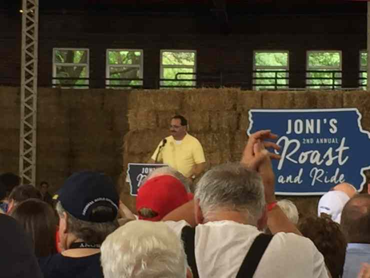 Iowa GOP Chair Jeff Kaufmann at Joni Ernst's Roast and Ride