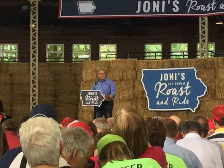 Congressman David Young (R-Iowa) at 2nd Annual Roast and Ride.