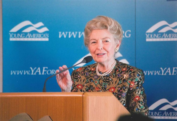 Phyllis Schlafly at the YAF event at Ronald Reagan's ranch in 2011.