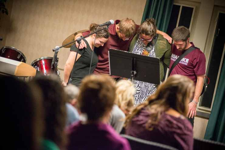 Prayer at InterVarsity at Roanoke College in Salem, VA.