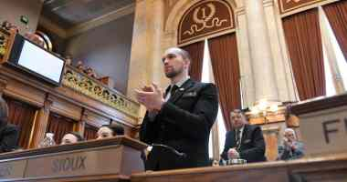 State Representative Skyler Wheeler (R-Orange City) on Opening Day 2017 in the Iowa House.