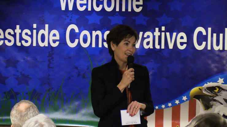 Iowa Lt. Governor Kim Reynolds at Westside Conservatives Club on March 8, 2017.