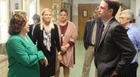 Iowa Department of Education Director Ryan Wise visits Woodbury Elementary in Marshalltown.