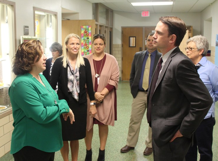 Iowa Department of Education Director Ryan Wise visits Woodbury Elementary in Marshalltown.