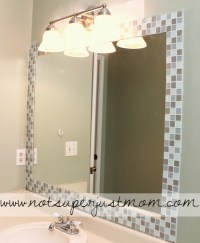 Do It Herself: How to Mosaic Tile A Mirror - Caffeine and ...