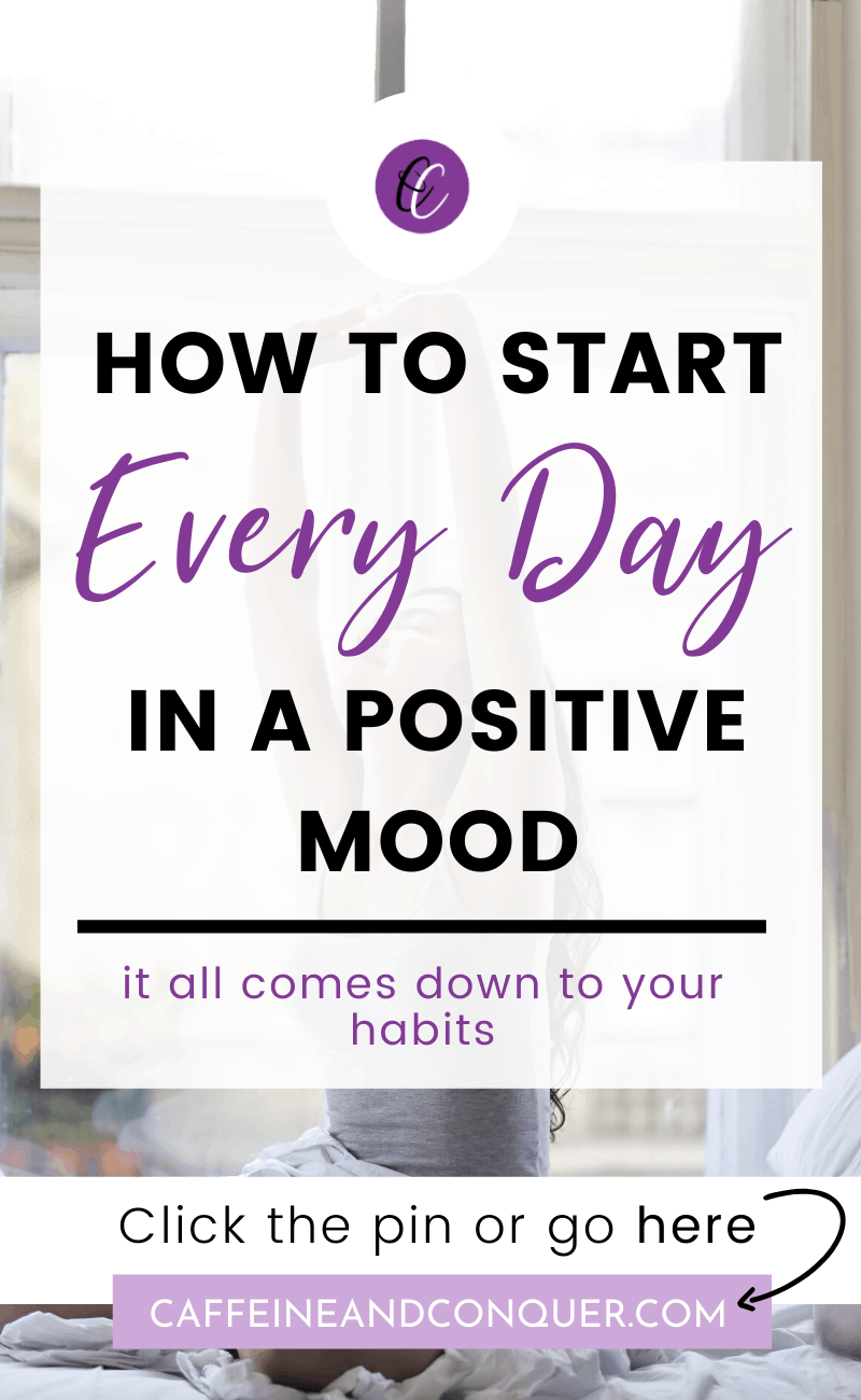 "A pinnable image: ""How to start every day in a positive mood"""