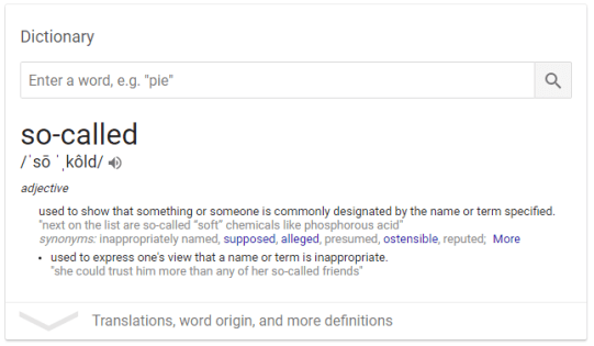 So-Called