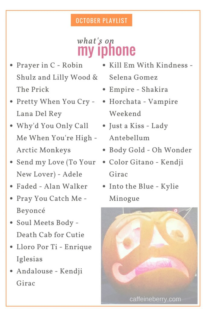 playlist for october