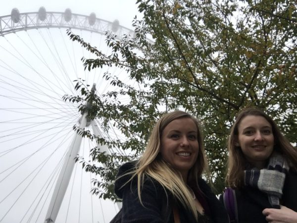 T and I at the London Eye
