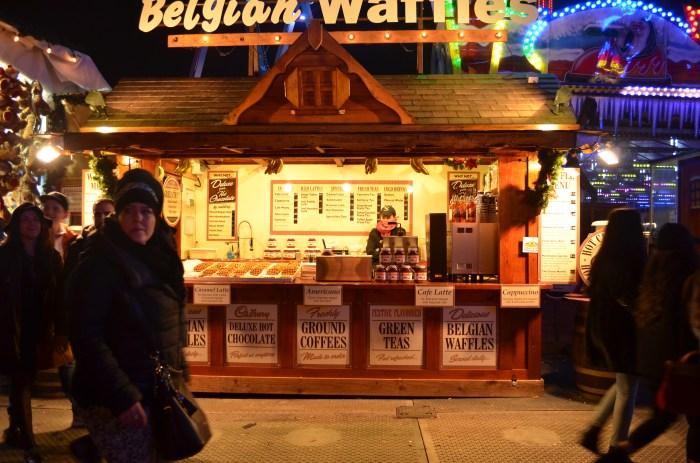 Winter Wonderland Hyde Park belgian waffle