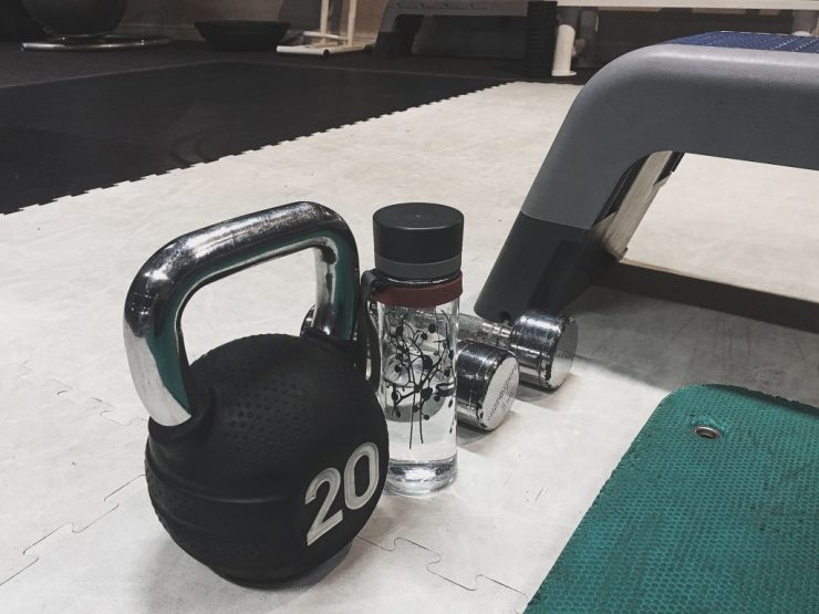 Kettle bells, water bottle and weights - Fitness update from Caffeineberry