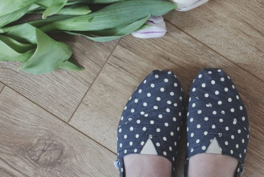 polka dotted Toms