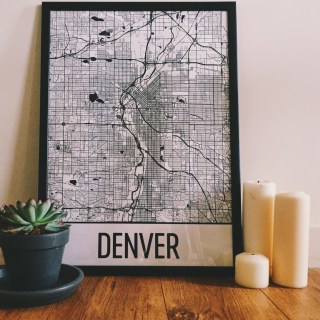 Denver Map Art from Modern Map Art