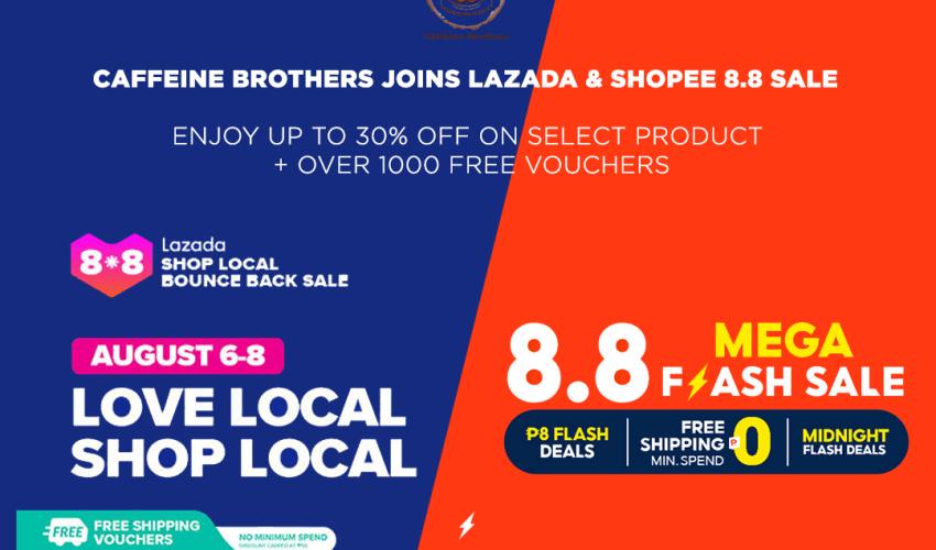 shopee and lazada 8.8 sale