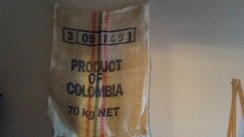 Burlap coffee bean export bag