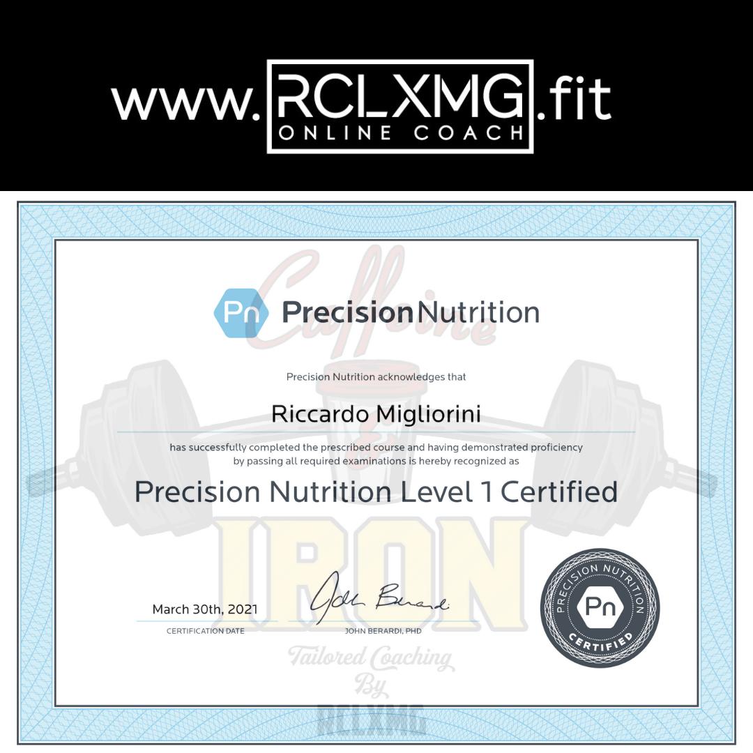 Precision Nutrition LvL1 Coach