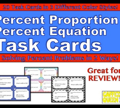 Percent Proportion and Percent Equation – Power Through!