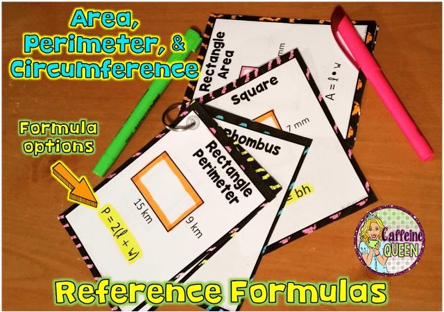 Geometry formula references with formula options