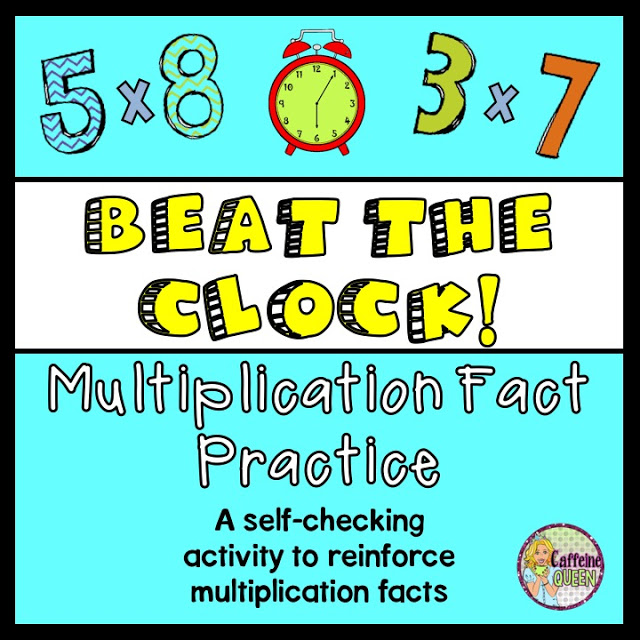 Beat the Clock - Multiplication Facts Practice Game! - Caffeine ...