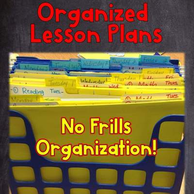 Color-Coded Files for Organized Lesson Plans