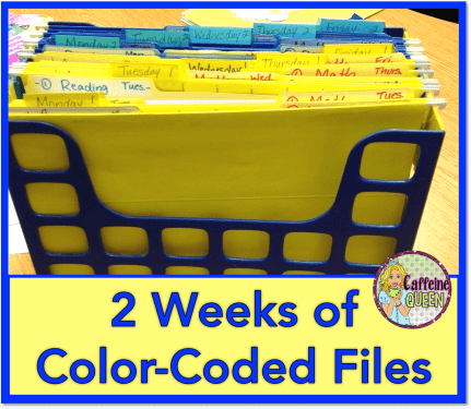 Organizing lesson plan files