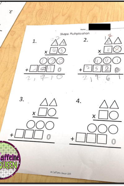 2-digit multiplication worksheets and organizers