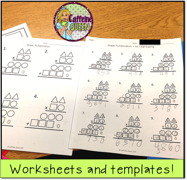 students learn to solve 2-digit multiplication with this visual graphic organizer method