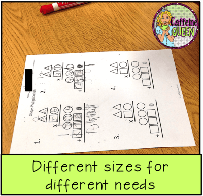 Easy way to differentiate multiplication lessons