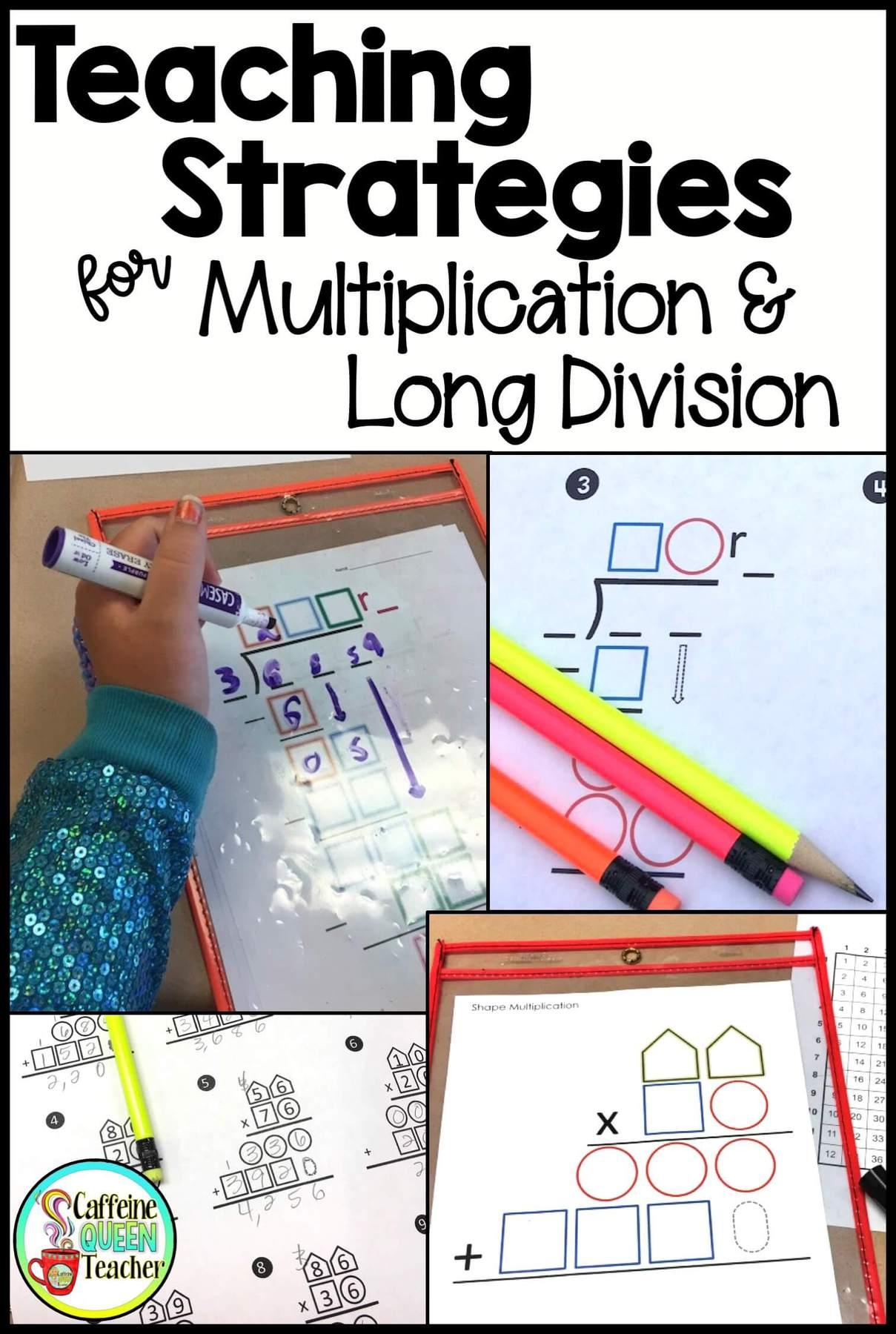 How to Teach Multi-Digit Multiplication and Long Division - Caffeine Queen  Teacher [ 1800 x 1209 Pixel ]
