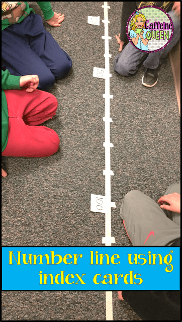 Use index cards to change the number line daily for practice