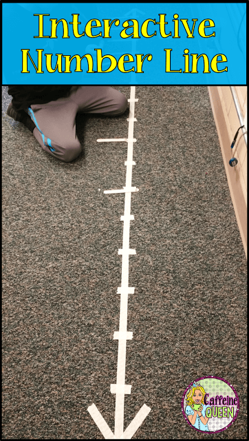 Interactive Number Line - Life Sized for Students!