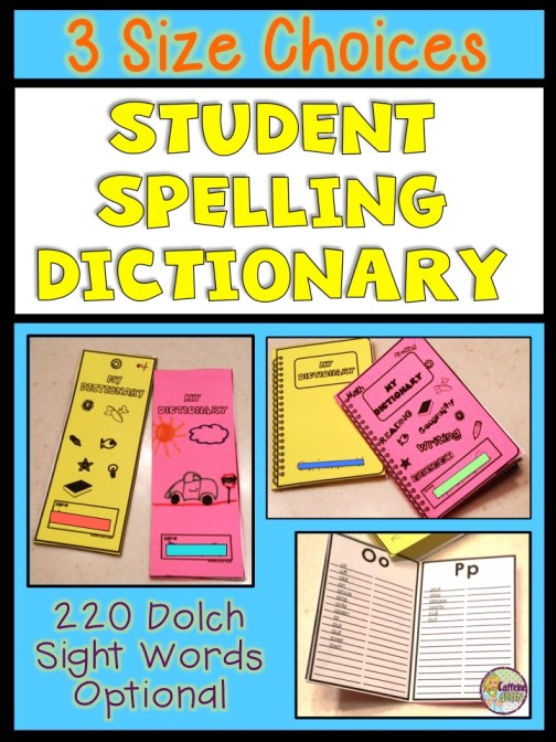 Students write spelling words, sight words, or any word they struggle to spell!