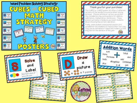 CUBES Word Problem Solving Strategy for Students