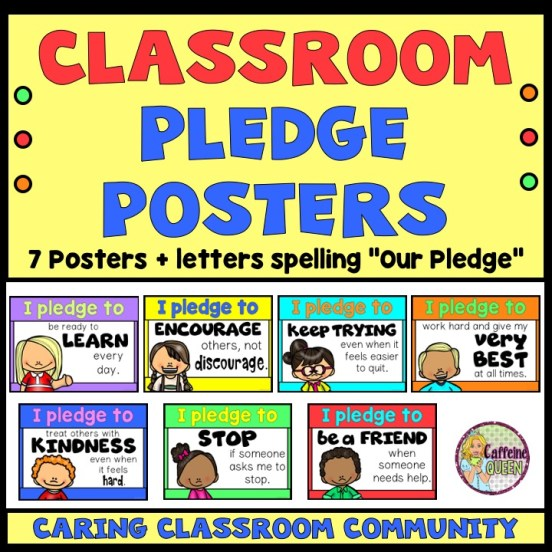 Character education posters promoting positive values