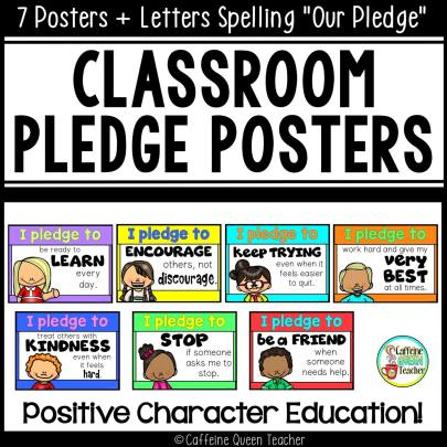 classroom pledge posters for bulletin boards