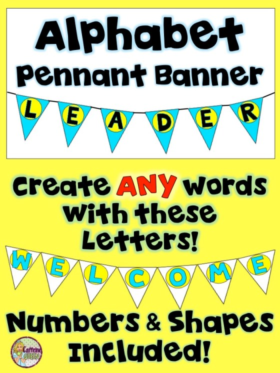 Pennant Banners for Leader in Me Decorations