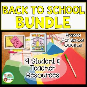 This Back to School bundle contains 9 resources to help teachers get ready quickly and easily!