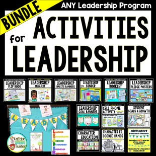 student leaders and character education bundle of activities