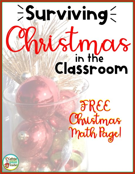 Surviving Christmas in the Classroom with a Math Freebie