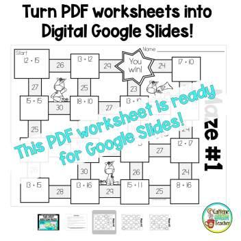 turn PDF worksheets into digital Google Slides