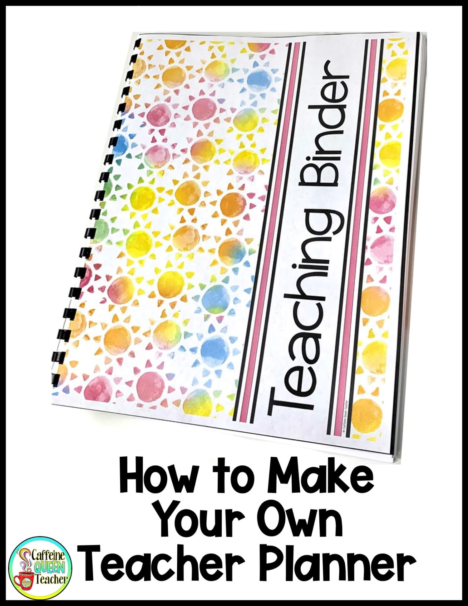 Using coil binding for a teacher planner is easy
