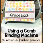 Making a teacher planner with a coil binding