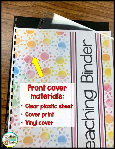 front cover teacher lesson planner