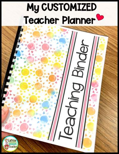 My finished customized teacher planner