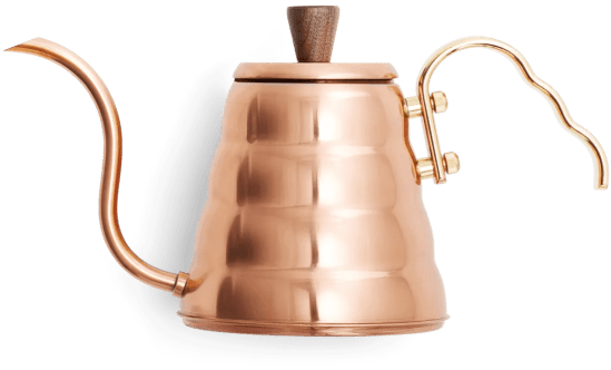 copper coffee kettle for pour over coffee