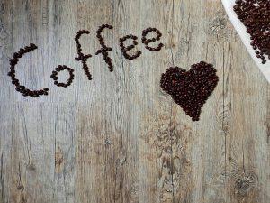 Pexels Photo - Coffee Art on Wood Using Coffee Beans