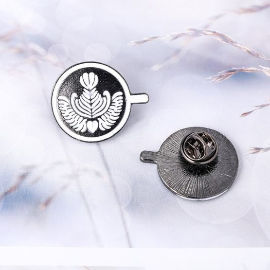 Coffee Badge Couple Espresso Glaze Tea Cup Drop Oil Brooch Mini Coffee Cafe Gift
