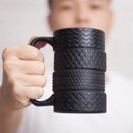 Creative Tire Style Mugs - Large Capacity Ceramic Mack Cups - Milk Tea Coffee Mug