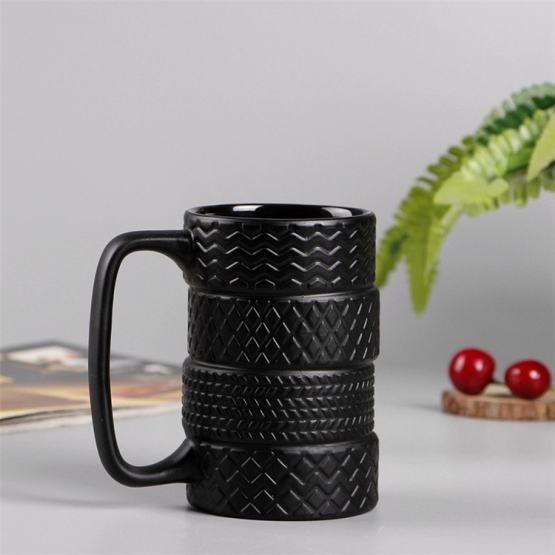 Creative Tire Style Mugs - Large Capacity Ceramic Mack Cups - Milk Tea Coffee Mug